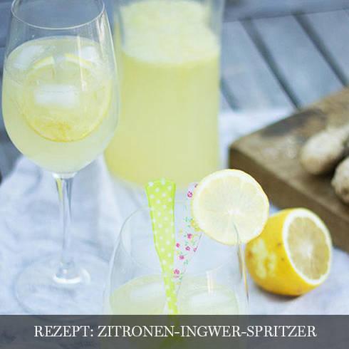 Zitronen-Ingwerspritzer