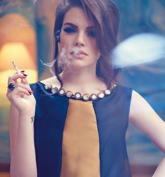Fashion Shoot mit Pop Noir Sängerin SCHMIDT