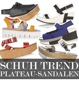Plateau Sandalen - unsere Top 7 Modelle für den Sommer 2015