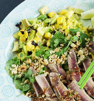 Rezept-Tipp: Avocado-Mango-Salat mit Thunfisch