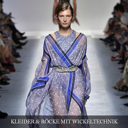 Kleider & Röcke mit Wickeltechnik