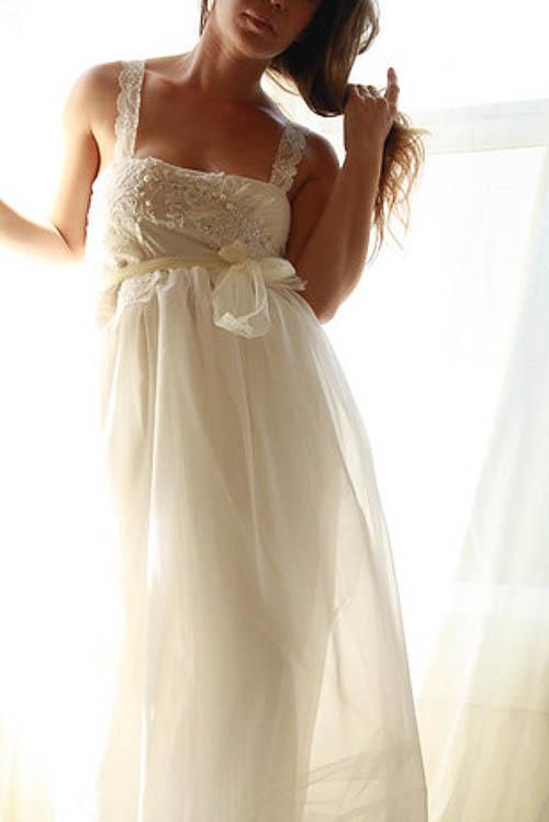Babydoll Hochzeitskleid von White Romance