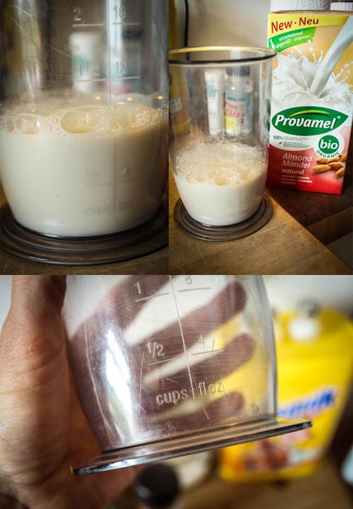 Mandelmilch eignet sich super für Smoothies