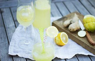 Zitronen-Ingwer-Spritzer oder Wann kommt endlich der Sommer?